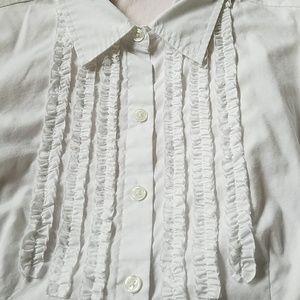 Van Huesen Women's Button-down Shirt with Ruffle d